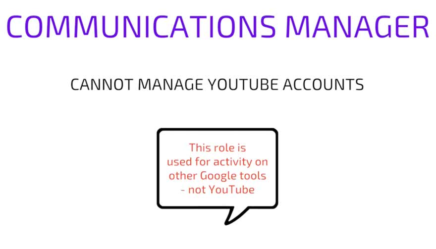 YouTube Communications Manager