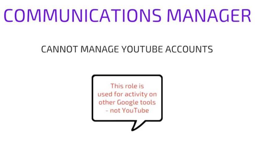 YouTube Communications Manager