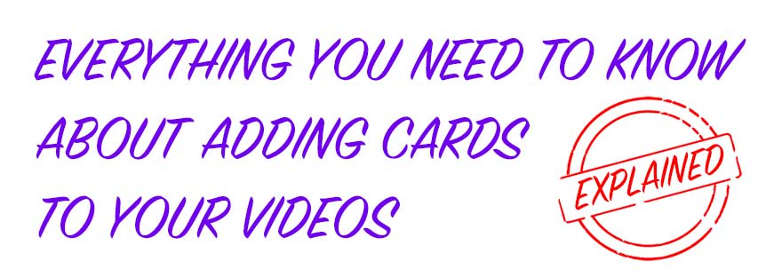 how to add a card to video on youtube